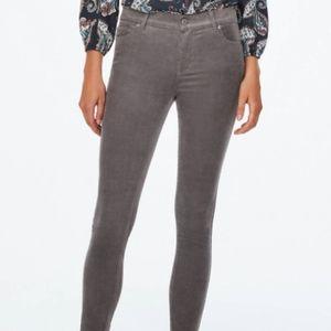 Loft Gray Moder Skinny Corduroy Pants